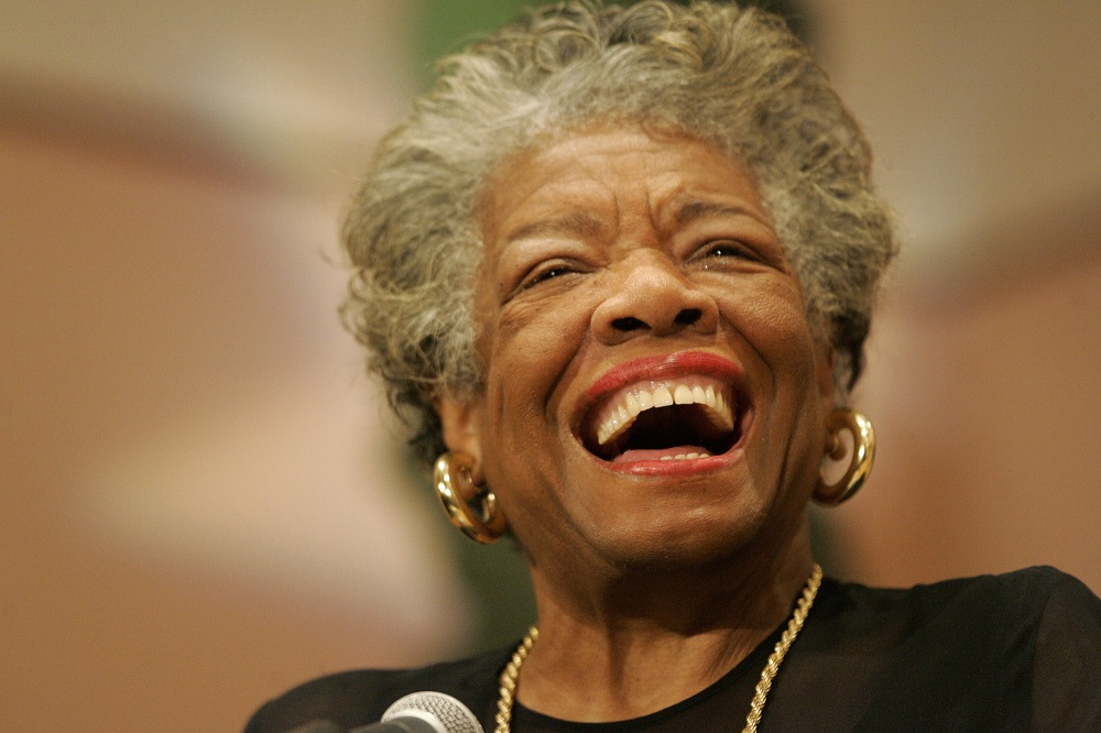 Poet and novelist Maya Angelou addresses the audience at the Sickle Cell Disease Association of America - Mobile Chapter 30th Anniversary Celebration program, Tuesday, Sept 12, 2006, in Mobile, Ala. (AP Photo/Press-Register, John David Mercer)